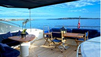 LOW PROFILE -  Aft Deck with Bimini