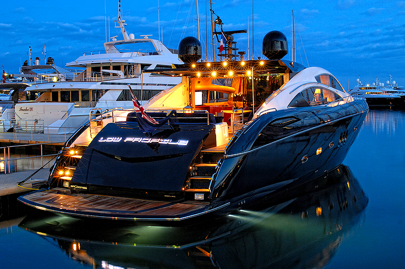 Yachts At Night LOW PROFILE - A...