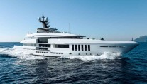 LUXURY CHARTER YACHT OURANOS PROFILE VIEW