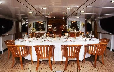 Lady Goodgirl -  Aft Deck Dining