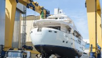 Launch of BSD 108 RS superyacht Blue Berry at Benetti Sail Division