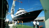 Launch of Hunt 80 Yacht - Image credit to Hunt Yachts