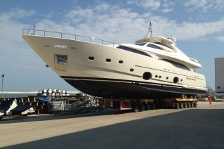 Launch of luxury motor yacht Happy Days