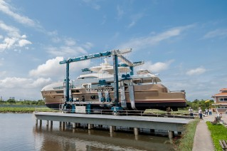 Launch of luxury yacht PARADISO