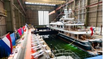 Launch of the 55m superyacht Engelberg by Amels