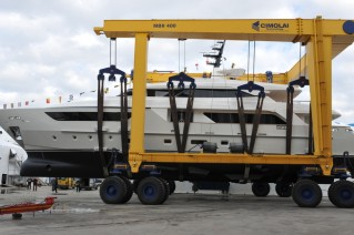Launch of the Sanlorenzo SD122 superyacht Alchemist Too.JPG