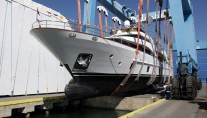 Launch of the Serenity yacht at Azimut-Benetti Groups Lusben company
