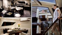 Lazzara LSX 92 - Galley and the Bar