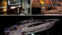 Lazzara LSX 92 interior and exterior by night