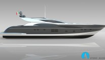 Leopard 36m Sportfly superyacht - side view