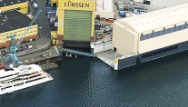 Lurssen shipyard in Aumund, Germany