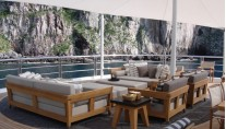 Lurssen yacht TV - Upper deck additional view