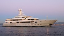 Lurssen-refitted 68m mega yacht Global (ex Kismet) - Photo by Giovanni Romero