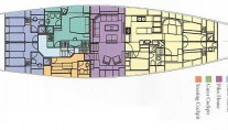 Luxury Charter Yacht Gitana - Layout