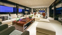 Luxury Charter Yacht MANIFIQ  Main Salon - Interior by Luca Dini Design
