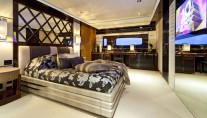 Luxury Charter Yacht MANIFIQ Master suite  Interior by Luca Dini Design