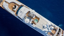 Luxury Yacht QM OF LONDON - birds view