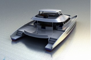 Luxury catamaran yacht Quo Vadis - rear view