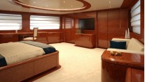 Luxury interior of the Eurocraft super yacht Baron Trenck