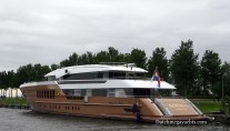 Luxury motor yacht AZAMANTA - aft view - Photo by Dutchmegayachts