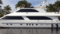 Luxury motor yacht Adventure Us II - side view - Image credit to Hargrave Custom Yachts