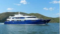 Luxury motor yacht Bayterek making her first pre-trial cruise