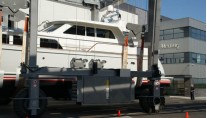 Luxury motor yacht Float at her re-launch