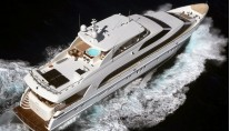 Luxury motor yacht Gigi II - view from above