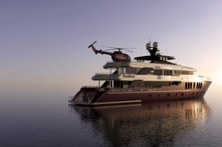 Luxury motor yacht Miracle concept - aft view
