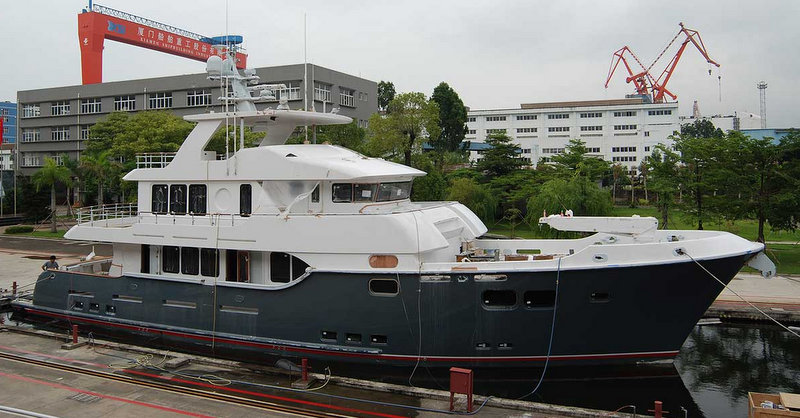 yacht macguffin  by nordhavn