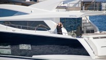 Luxury motor yacht Pearl 75 styled by Kelly Hoppen