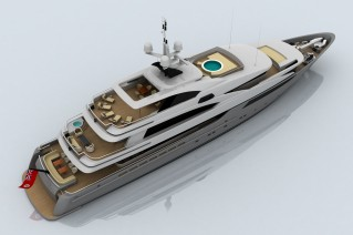 Luxury motor yacht Project 803 by CMN Yachts - upview