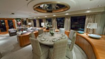 Luxury motor yacht Sea Bear Dining Area