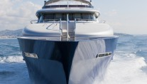 Luxury motor yacht Vulcan - front view