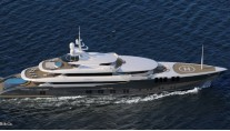 Luxury motor yacht ZENITH underway