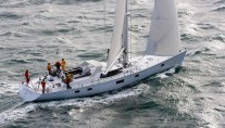 Luxury sailing sloop Intrigue