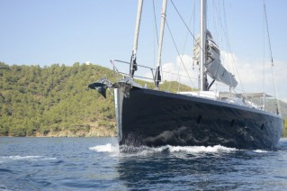 Luxury sailing yacht Music - front view