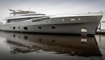 Luxury super yacht COMO at her launch