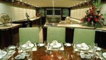 Luxury superyacht Emerald Lady - Dining and Salon