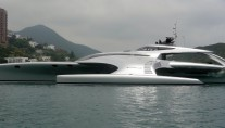 Luxury trimaran yacht Adastra designed by Shuttleworth Design