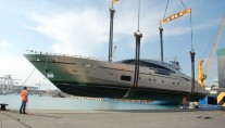 Luxury yacht AB116 by AB Yachts during her launch