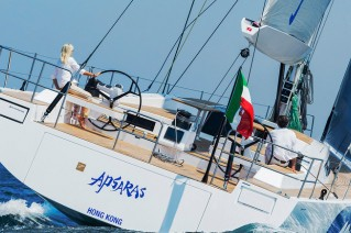 Luxury yacht APSARAS - aft view