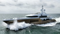 Luxury yacht AZAMANTA under sea trial - Photo by Dick Holthuis