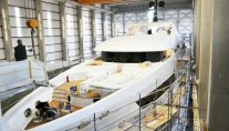 Luxury yacht BEBE in build - Image credit to Vosmarine
