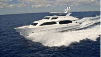 Luxury yacht BOPS at full speed