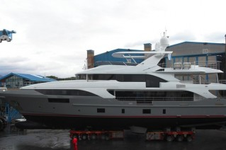 Luxury yacht BS003 by Benetti - side view