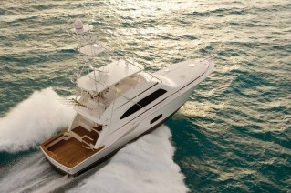 Luxury yacht Bertram 70 Convertible from above