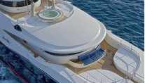 Luxury yacht Blue Eyes London - sundeck