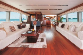 Luxury yacht Contessa - Saloon