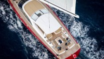 Luxury yacht DORYAN from above